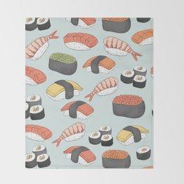 Sushi Pattern Throw Blanket