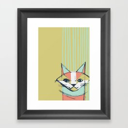 Cubist Cat Study #10 by Friztin Framed Art Print