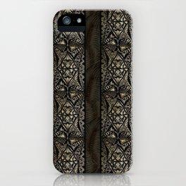 Linear Hawaiian Tapa Cloth iPhone Case