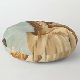 The Birth of Venus detail Floor Pillow