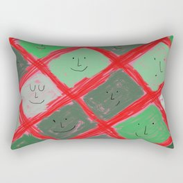 Cute pattern with smiling faces Rectangular Pillow