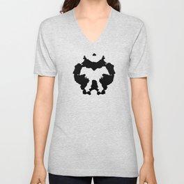 Rorschach inkblot Unisex V-Neck