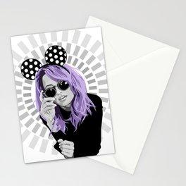 nicole richie purple hair Stationery Cards