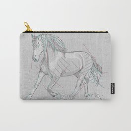 horse lineart Carry-All Pouch