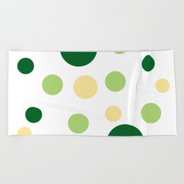 Green Pop Beach Towel