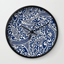 Hawaiian tribal pattern III Wall Clock