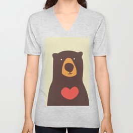 Hearty bear hug Unisex V-Neck
