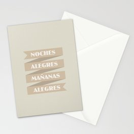 NOCHES ALEGRES MAÑANAS ALEGRES Stationery Cards