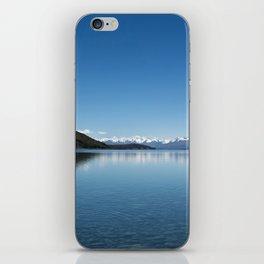 Blue line landscape iPhone Skin