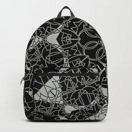 Gothic Link Flower Mandala Black and Grey Backpack