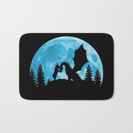 Friendship Of A Blue Moon Bath Mat