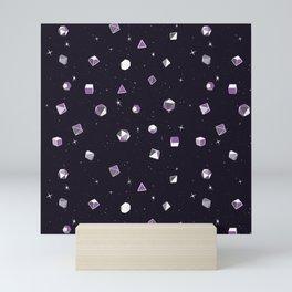 Polyhedral Dice- Purple Nebula Mini Art Print