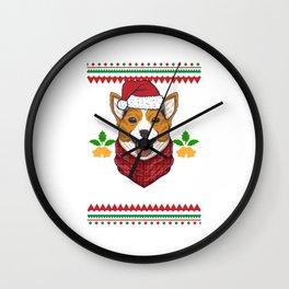 Merry Corgmas Motive for a Dog Lover Wall Clock