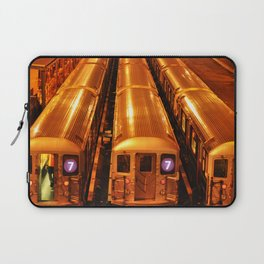 New York Queens Subway 7 Train Yard Laptop Sleeve