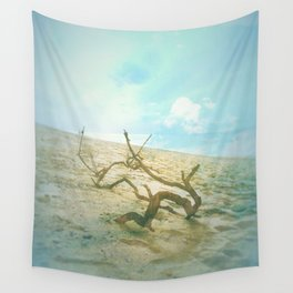 Driftwood on the Beach Wall Tapestry