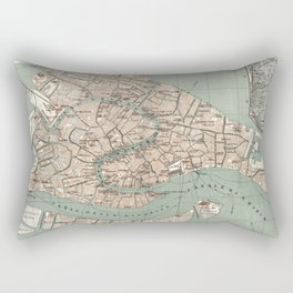 Map of Venice - 1886 Rectangular Pillow
