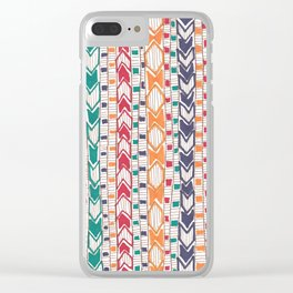Marching Diamonds Clear iPhone Case