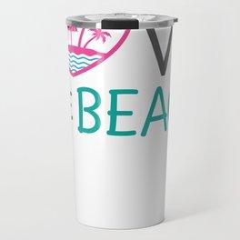 New Beach Love the Beach Beachy Design Travel Mug