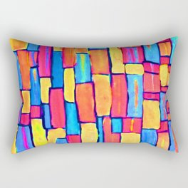 """Building a Colorful World"" Rectangular Pillow"