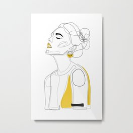 Yellow Lip Metal Print