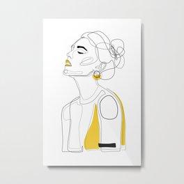 Yellow Lip Metal Print