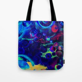 Bright Colorful Surreal Splash Painting Space Pattern Tote Bag