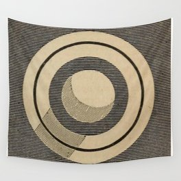 Vintage Saturn From Above Wall Tapestry
