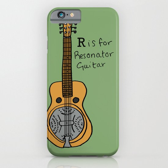 R is for Resonator Guitar iPhone & iPod Case