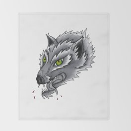Trad Wolf Throw Blanket