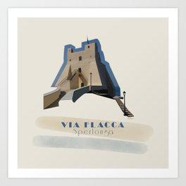Sperlonga - Via Flacca Art Print