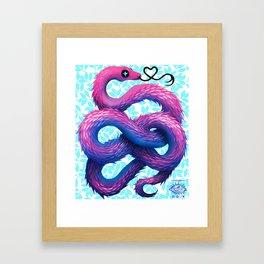 Cotton Candy Snake Framed Art Print