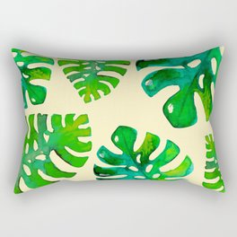 Watercolor Monstera *yellow edition* Rectangular Pillow
