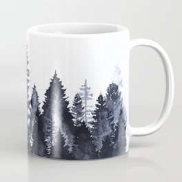 Forest Silhouette Watercolor Coffee Mug