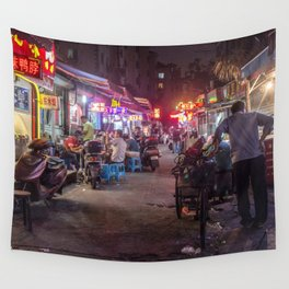 Shanghai Streets Wall Tapestry