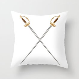 Crossed Infantry Swords Throw Pillow