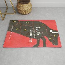 Death in the Afternoon, Erenst Hemingway, book cover, classic novel, bullfighting stories, Spain Rug