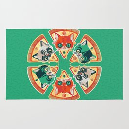 Pizza Slice Cats  Rug