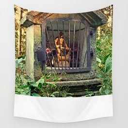 Ancient forest worker monument | architectural photography Wall Tapestry
