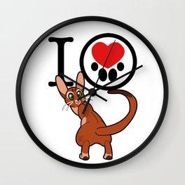 I Heart Abyssinian! Wall Clock