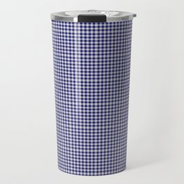 Midnight Blue Gingham Travel Mug