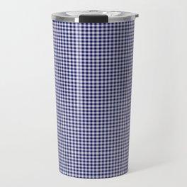 Midnight Blue Gingham Travel Mug