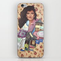charmaine olivia iPhone & iPod Skins featuring Olivia by Mel Coleman