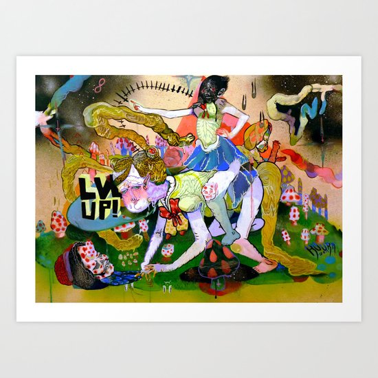 lvl up Art Print