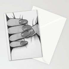 'Hold me tight don't let me go' - Black and White - Ashley Rose Standish Stationery Cards