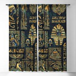 Ancient Egyptian Hieroglyph Sphinx Pyramid Blackout Curtain