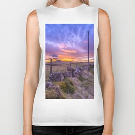 West Lomond Sunset Sky Biker Tank
