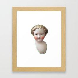 Mentalembellisher Mad-Eyed Victorian Bisque Doll Head Framed Art Print