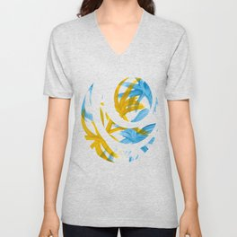 Palms Abstract Painting Unisex V-Neck