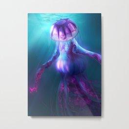 Jellyfish Creature Metal Print