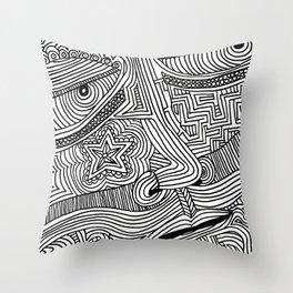 Line Vision IX Throw Pillow